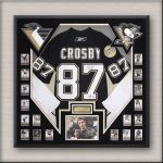 Crosby Hockey Memorabilia Framing