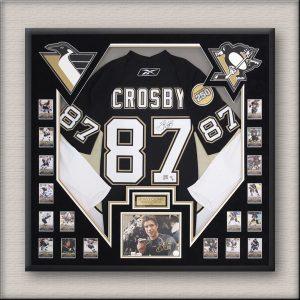 Crosby Hockey Memorabilia Framing
