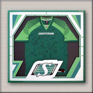 Saskatchewan Roughriders jersey framing