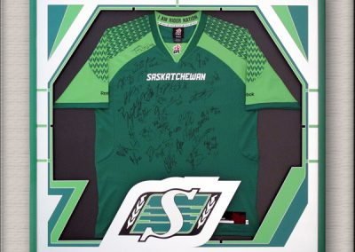 Saskatchewan Roughriders jersey framing