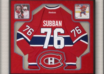 Montreal Canadiens Hockey Jersey Memorabilia Framed