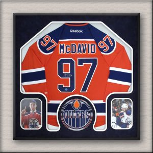Connor McDavid Edmonton Oilers Framed Jersey & photos