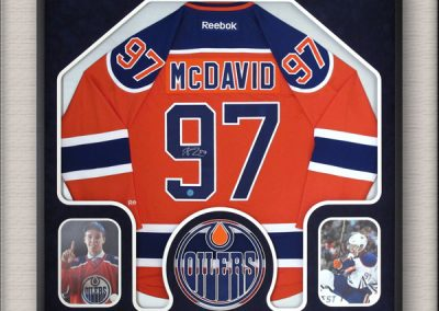 Connor McDavid Edmonton Oilers Framed Jersey & photos