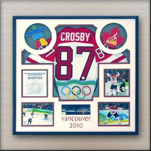 Crosby Team Canada Hockey Memorabilia Framing