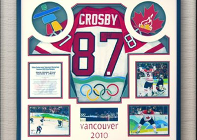 Crosby Team Canada Hockey Memorabilia Framing