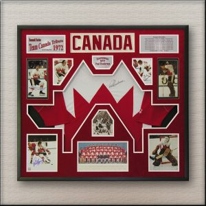 Team Canada 1972 Hockey Memorabilia Framed
