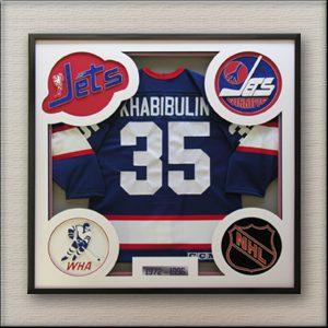 Winnipeg Jets Hockey Jersey Framing