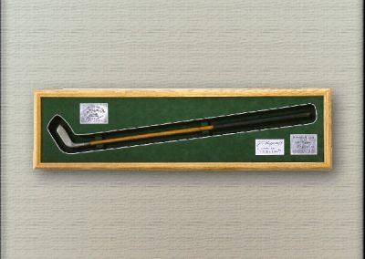 Antique golf memorabilia framing